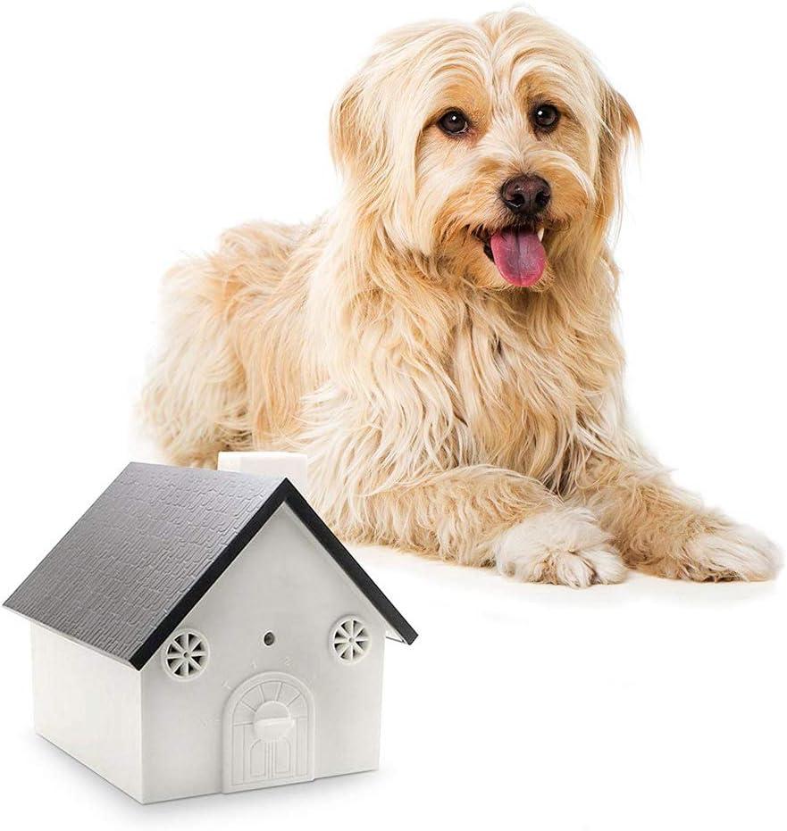 NOBGP Herramienta de Entrenamiento de Perros para el Control de ladridos de la caseta de pájaros de Control antirruido Uso al Aire Libre Dejar de ladrar para Mascotas con hasta 50 pies