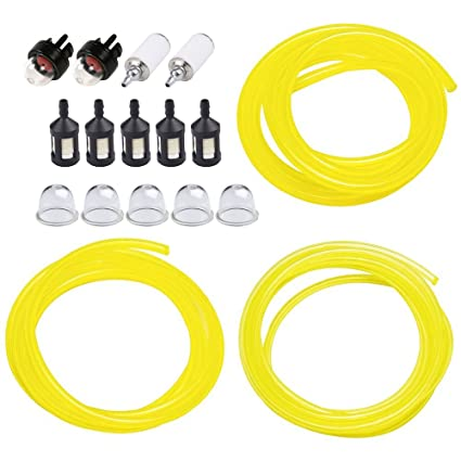amazon com huztl 5 feet 3 sizes fuel line hose with snap in primer Poulan Pro Weed Eater Fuel Line Replacement huztl 5 feet 3 sizes fuel line hose with snap in primer bulb, primer pouland