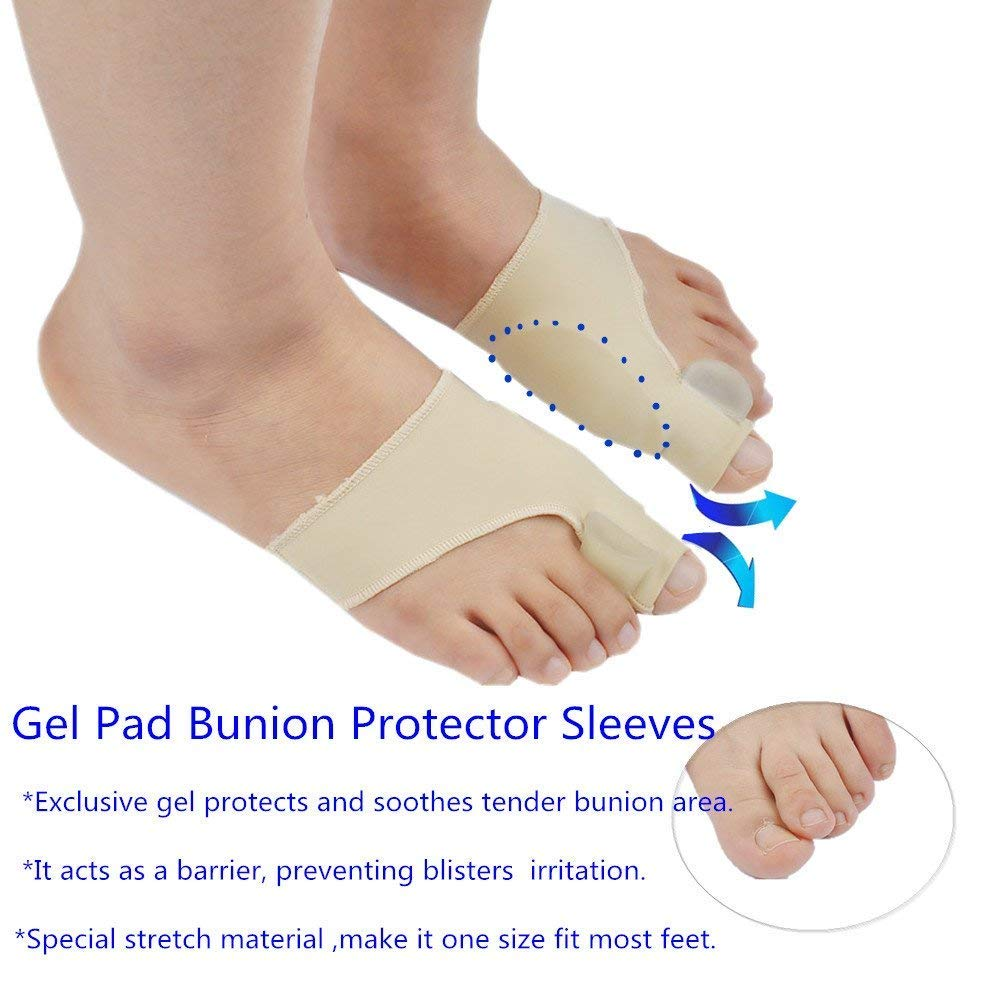 Amazon.com: Bunion Corrector & Bunion Relief Protector Sleeves Kit - Hallux valgus Thumb Toe Correction,Toe Separator,Single Hole Hallux valgus Correction ...
