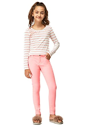 70196309 Ex Zara Girls Twill Stretchy Kids High Waist Skinny Jeans Pant Trouser  Green 2-10 Y: Amazon.co.uk: Clothing