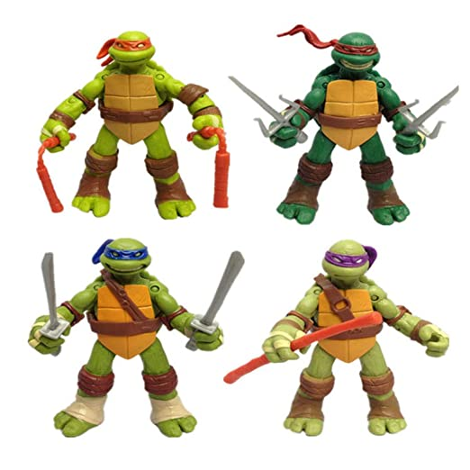Juguete Infantil Mutant Ninja Turtle TMNT Movible Para Niños ...