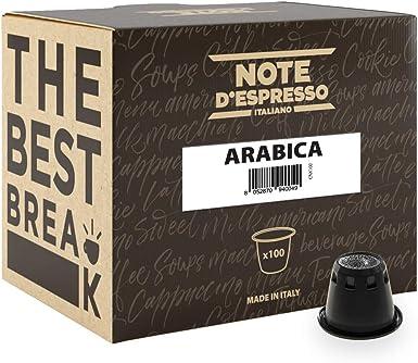 Note DEspresso - Cápsulas de café arábica exclusivamente compatibles con cafeteras Nespresso*, 5,6 g (caja de 100 unidades): Amazon.es: Alimentación y bebidas