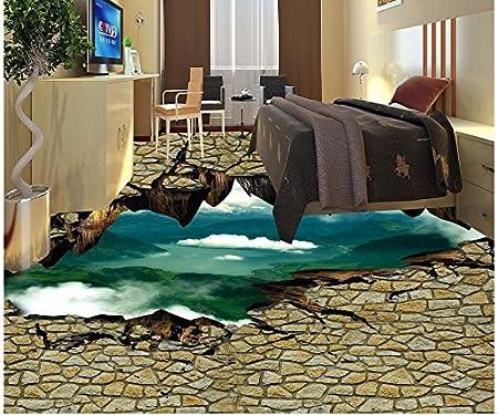 Fußboden Mit 3d Effekt ~ Ddbbhome modernes d boden wand riss klippen d boden pvc tapeten