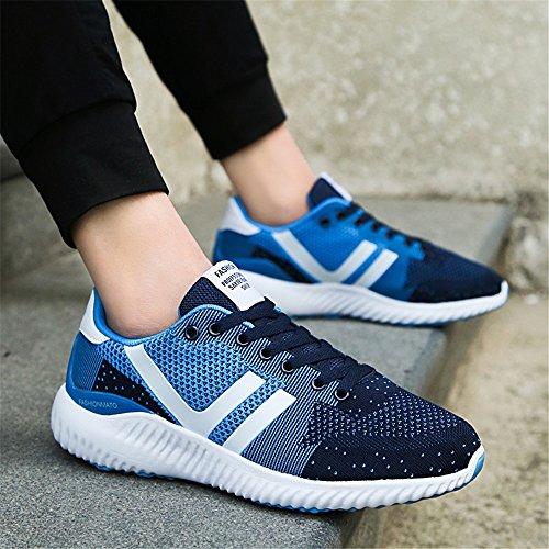 Hombre Calzado Running Respirable Cómodo Zapatillas de Atletismo Numero 39-44 Azul