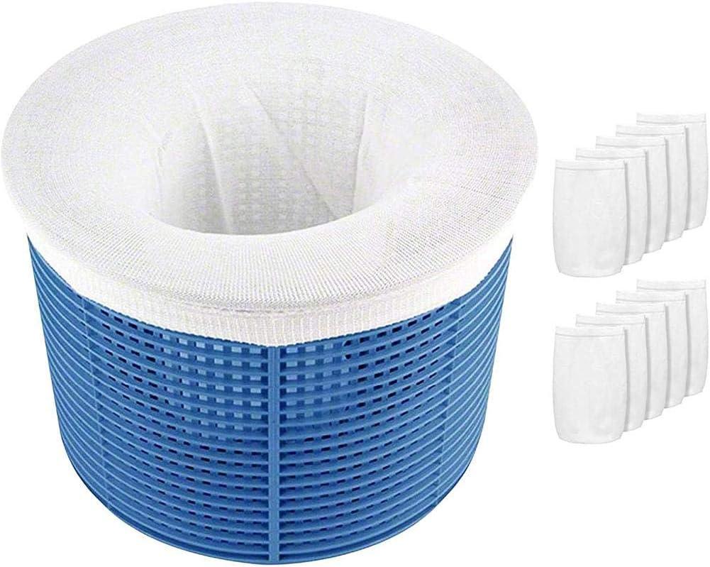 Terzsl 10 calcetines de esquí para piscina, filtro de calcetines de malla ultrafina, reutilizables, para jacuzzi de piscina, limpia los residuos y hojas para piscinas de resultado y exteriores