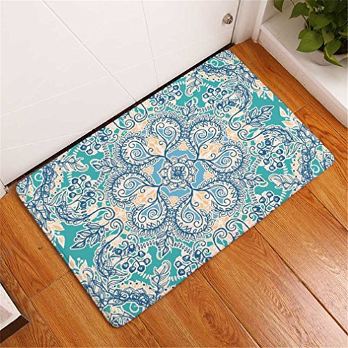 - KCMDJ Colorful Psychedelic Mandala Geometric Floral Printing Mats Welcome Home Doormats For Entrance Door Anti-Skid Carpets 3 400 X 600 mm