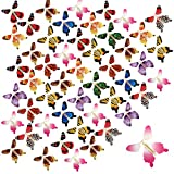 beemean Magic Flying Butterfly Gift Cards - Wind Up Butterfly in The Book Fairy Toy Great Surprise Wedding (50PCS)