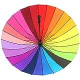 Large Umberlla Loveface Rainbow Wedding / Photographers Golf Umbrella-Multi-Coloured,24 ribs