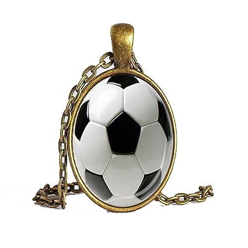 Palla da calcio ciondolo pendente nero bianco regalo per calciatore