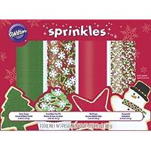 Wilton 710-1309 4-Pack Holiday Mega Sprinkle Set