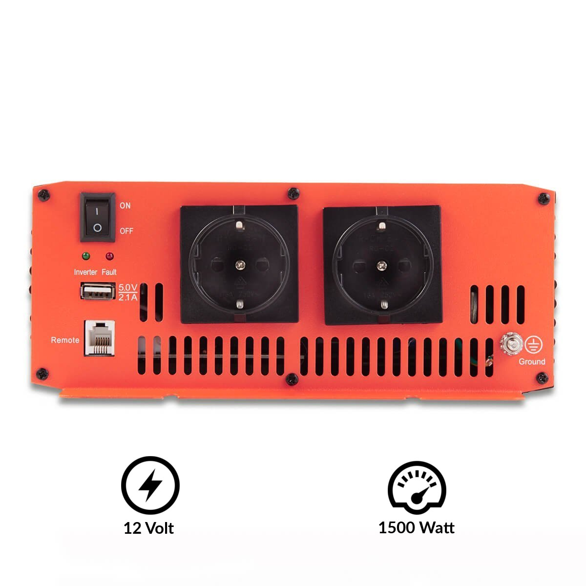 ECTIVE Serie SI caz | Inversor de onda sinusoidal 12V a 230V | 1500W | Los transformadores de tensión, transformadores de corriente, convertidor de energía, ...