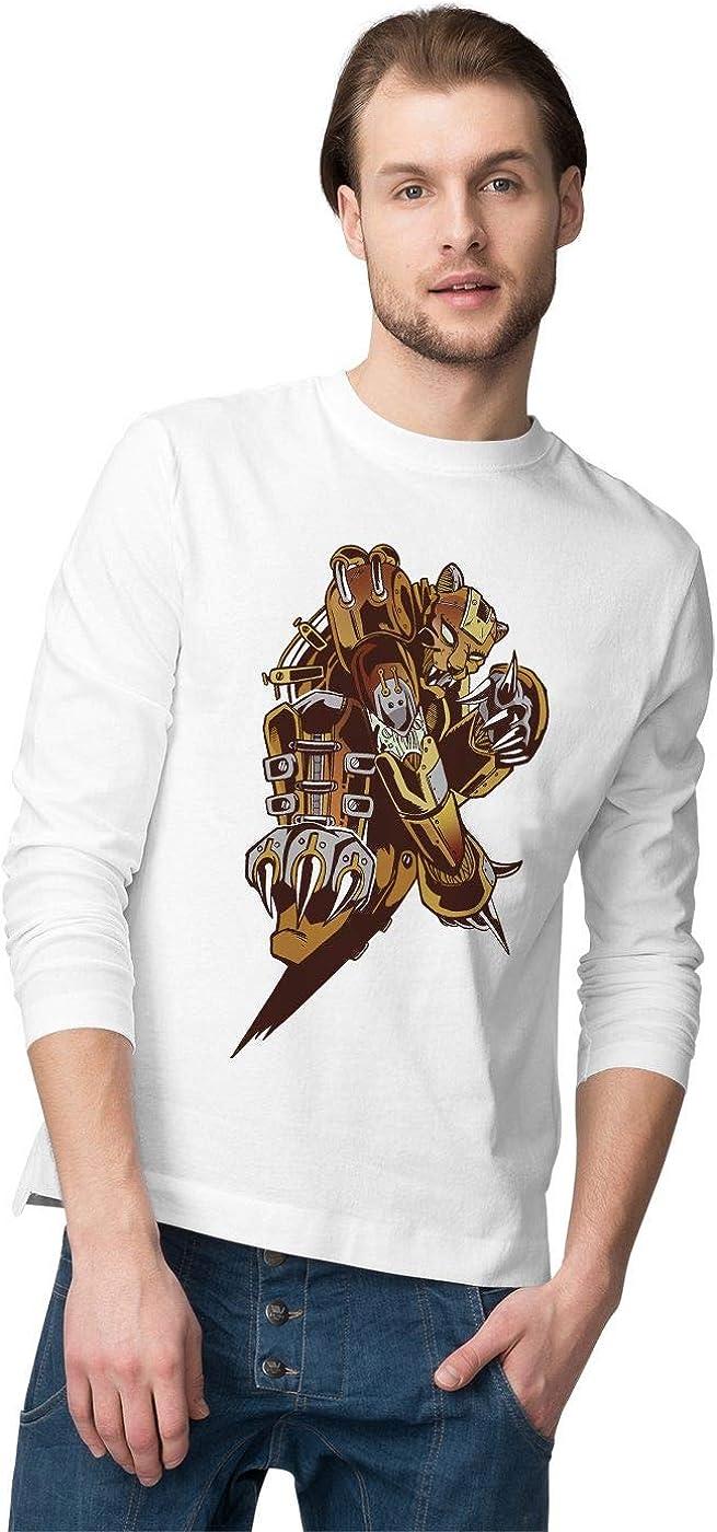 BLAK TEE Hombre Metal Steampunk Tiger Camisa De Manga Larga: Amazon.es: Ropa y accesorios