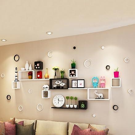 mensole creative muro scaffali tv parete ristorante a muro camera ... - Muri Divisori Cucina Soggiorno 2
