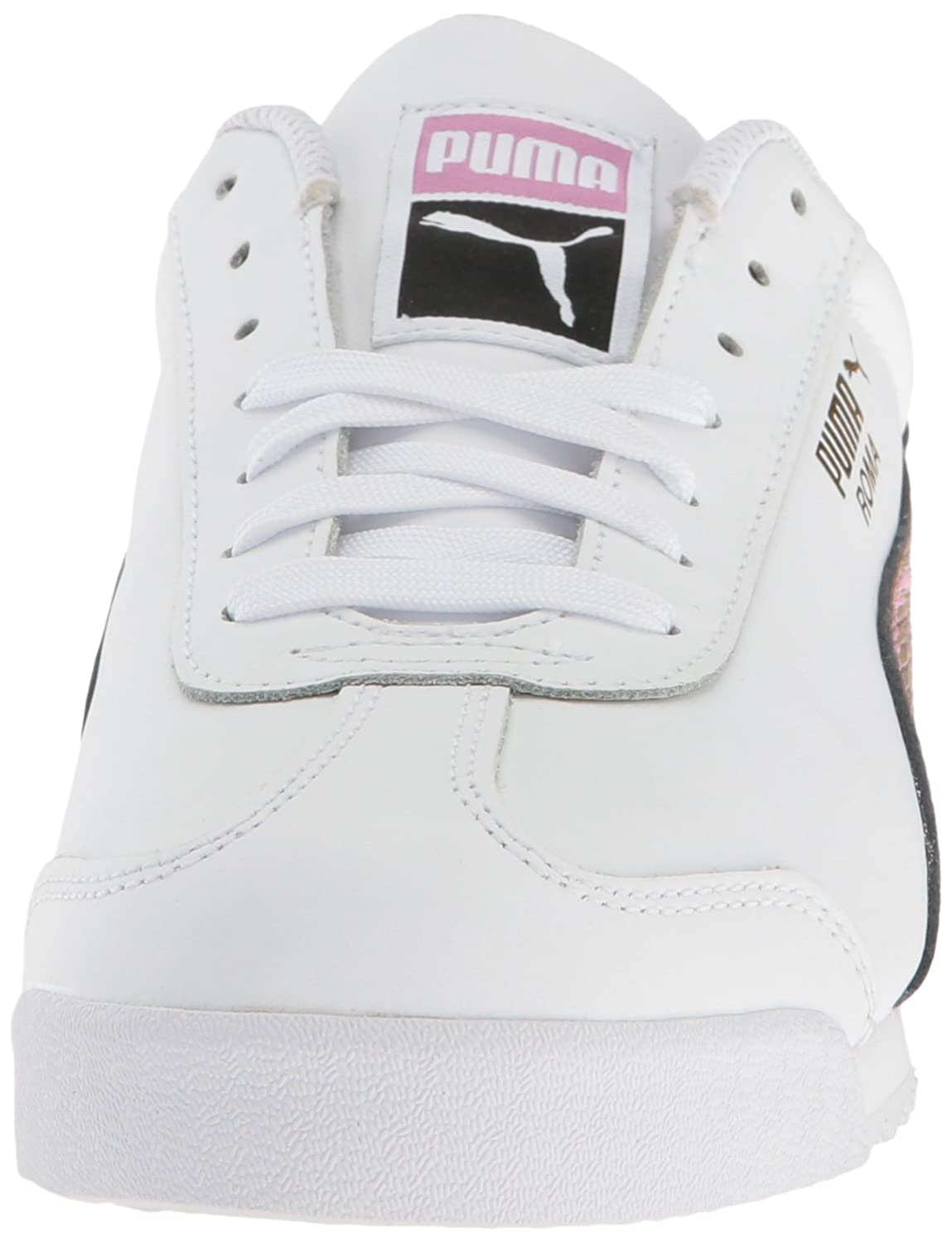 Puma Men's Roma Basic Holo Fashion Sneaker, Puma White Gold