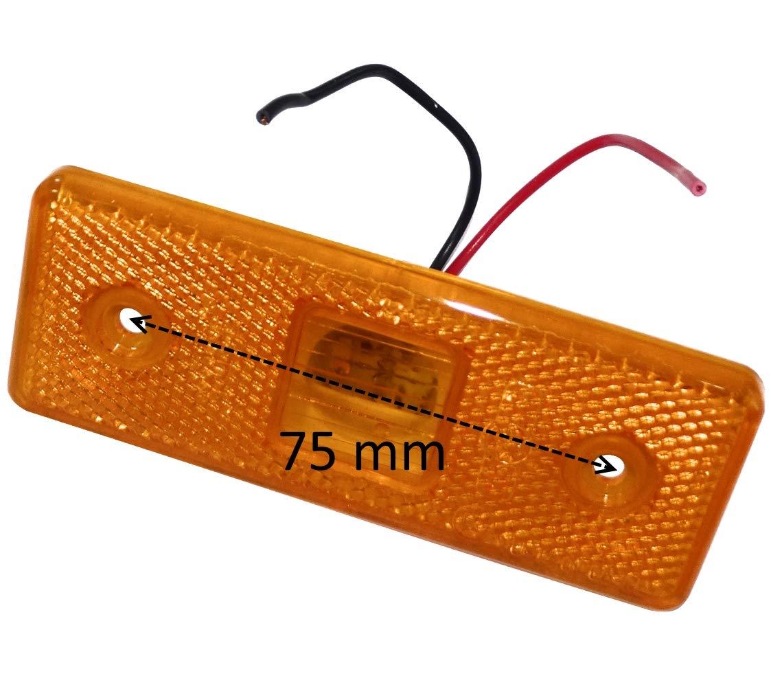 8 feu de gabarit lat/éral /à LED 24V Couleur Orange C41192 AERZETIX