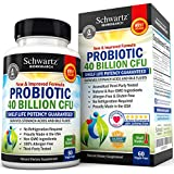 Probiotics 40 Billion CFU. Guaranteed Potency until Expiration. Patented Delay Release, Shelf Stable Probiotics Supplement. Dairy Free Probiotic with acidophilus. Best Probiotics for Women & Men.