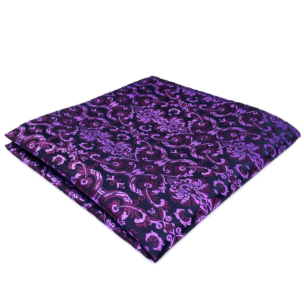 Shlax& Wing Geometric Patterned Purple Hanky Pocket Square For Men Floral Fashion Shlax & Wing DH15