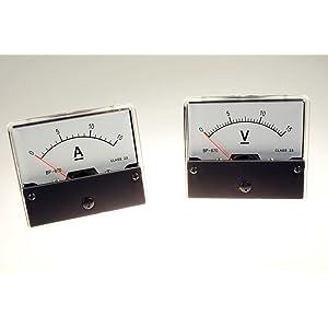 PAWBSHOP - Conjunto de medidores: voltímetro de CC, amperímetro de 15 V / 15 A