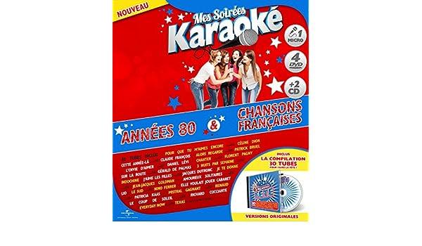 Coffret Karaoké Exclu Carrefour 4 DVD + Micro + 2 CD : Années 80 / Chanson Française Francia: Amazon.es: Vline Buggy, Eddy Marnay, Claude Moine, ...