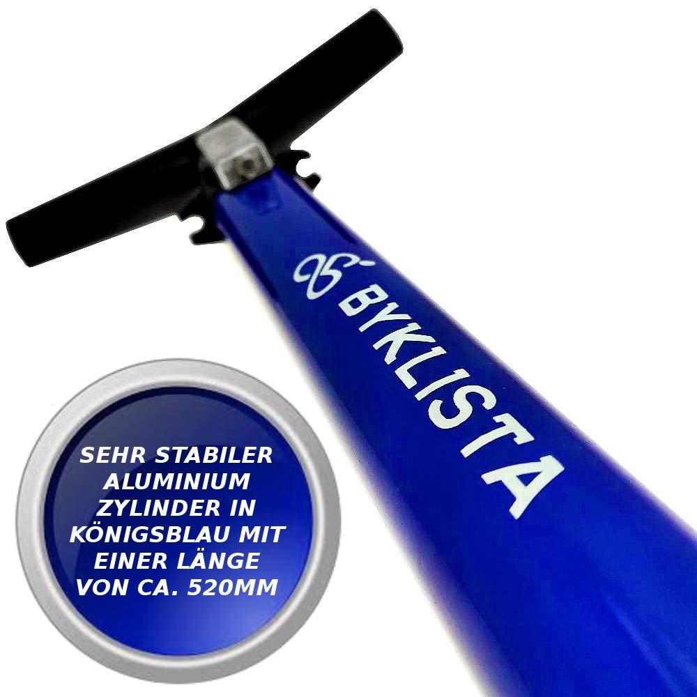 BYKLISTA Bomba de pie para Bicicleta Profesional Bomba de Suelo de Alta presi/ón man/ómetro hasta 12 Bar para Todas Las v/álvulas