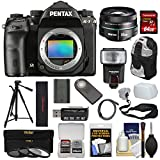 Pentax K-1 Mark II Full Frame Wi-Fi Digital SLR Camera Body & 50mm f/1.8 DA SMC Lens with 64GB Card + Battery + Flash + Backpack + Tripod + Kit For Sale