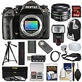 Pentax K-1 Mark II Full Frame Wi-Fi Digital SLR Camera Body & 50mm f/1.8 DA SMC Lens with 64GB Card + Battery + Flash + Backpack + Tripod + Kit
