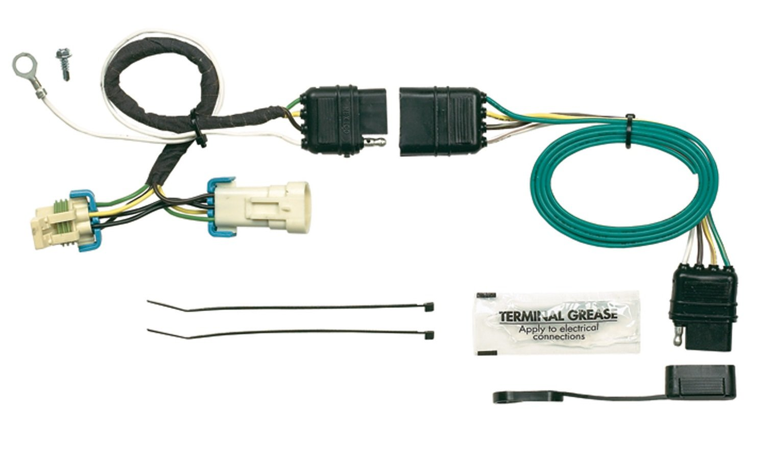 618X6OJbTkL._SL1500_ amazon com hopkins 41135 plug in simple vehicle wiring kit 4 Prong Trailer Wiring Diagram at mifinder.co