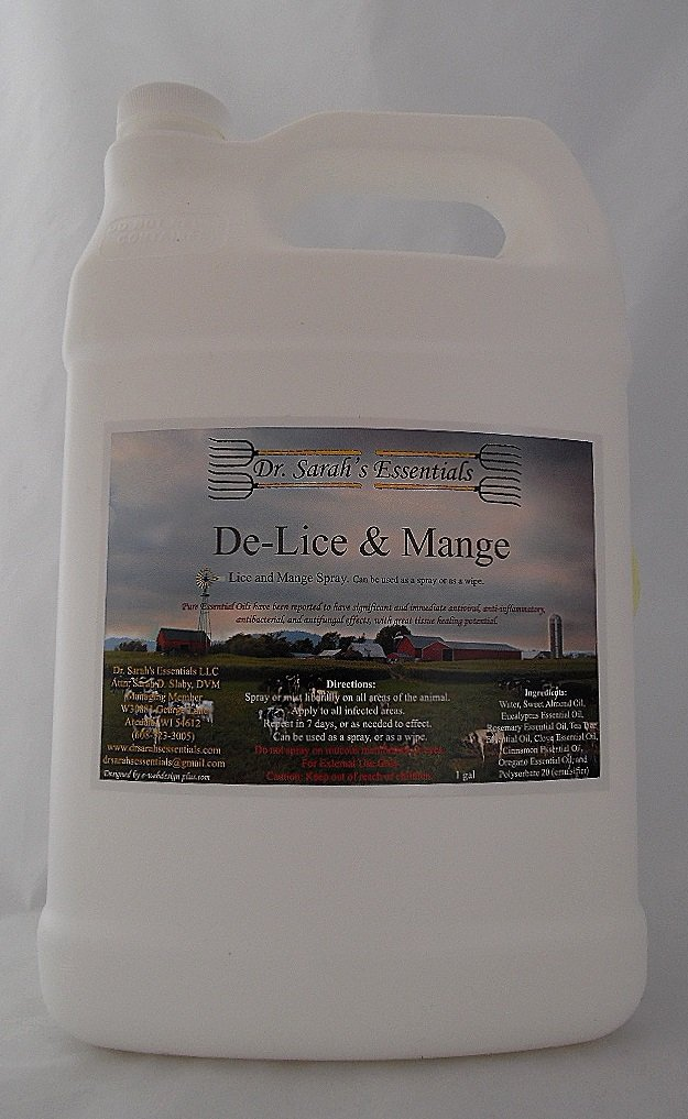 Dr. Sarah's De-Lice & Mange (1 gal.) by Dr. Sarah's Essentials, LLC