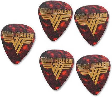 Van Halen 5x Gold printed guitar pick plectrum medium gauge 0.71mm ...
