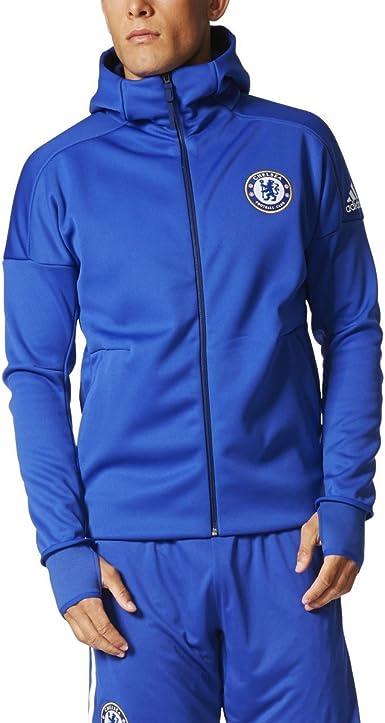 adidas Chelsea FC Anthem Z.N.E. Hoody Mens BQ8732 Blue (M