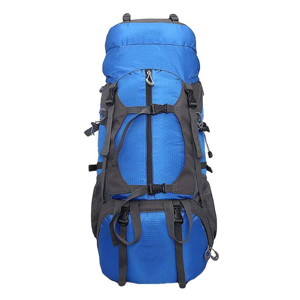 JSHFD アウトドア登山用バッグ、バックパック、防水、旅行用ハイキングバックパック、 B07GFLDTPW ブルー