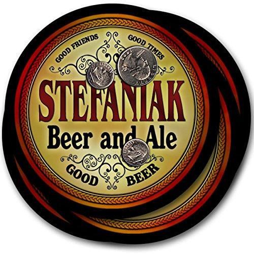 Stefaniakビール& Ale – 4パックドリンクコースター   B003QX6U1Q
