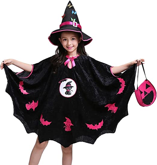 Sencillo Vida Disfraz Vestido de Murciélago Princesa para Niña ...