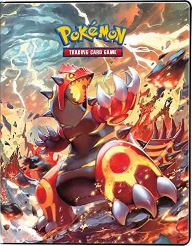 Ultra-Pro Pokemon Card Binder featuring Mega Groudon and Mega Kyogre from Primal Clash (9-Pocket Album/Portfolio Holds 90-180 Cards) 330726
