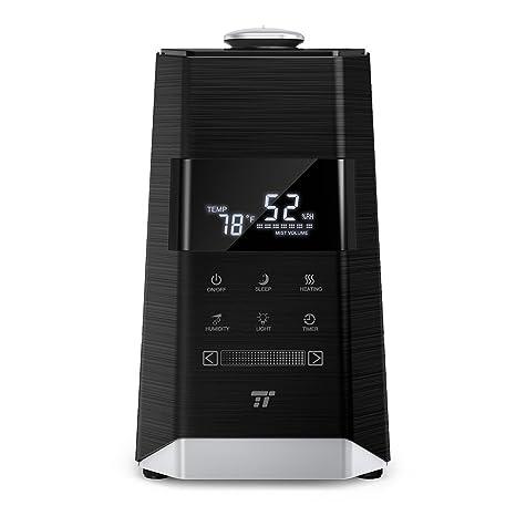 TaoTronics TT-AH008 Ultrasonic Warm & Cool Mist Humidifiers for Bedroom  Large Room, External Humidity Sensor, Touch Control Panel-6L/1 6 Gallon, US
