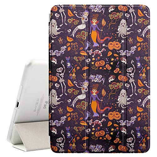 Compatible with Apple iPad Pro 10.5 (2017) - Leather Smart Cover + Hard Back Case with Sleep/Wake Function (Halloween Bright Kids Doodle) ()