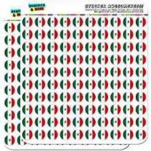 """Mexico National Country Flag 1/2"""" (0.5"""") Planner Calendar Scrapbooking Crafting Stickers - Opaque"""