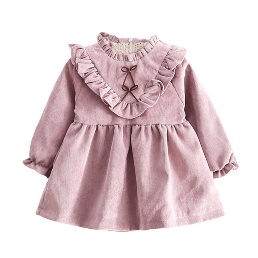 Ropa bebé Amlaiworld Niñas bebé otoño manga larga princesa vestido (6-12 Mes, Púrpura): Amazon.es: Bricolaje y herramientas