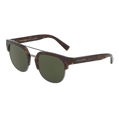 77f5a9d729d6 Image Unavailable. Image not available for. Color  Dolce   Gabbana DG4317  502 71 Havana Square Sunglasses ...