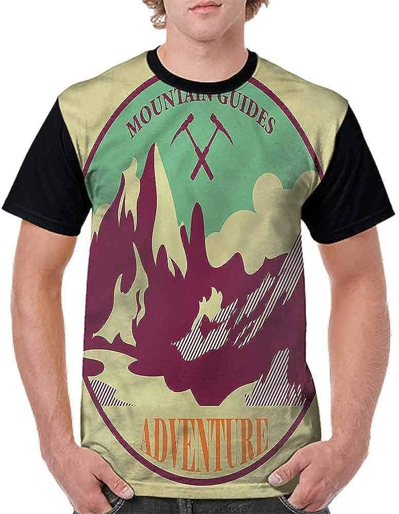 Round Neck T-Shirt,Traveler Woman Sunset Fashion Personality Customization
