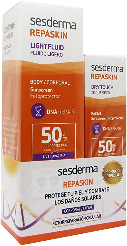 Sesderma Repaskin Pack Light Fluid Spf50 200ml + Dry Touch Spf50 ...