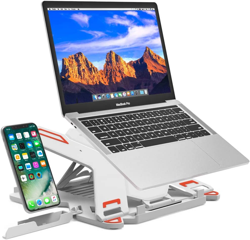 "Besign Adjustable Laptop Stand, Ergonomic Riser Notebook Computer Holder Stand Compatible with MacBook Air Pro, Dell XPS, HP, Lenovo More 10-15.6"" Laptops"