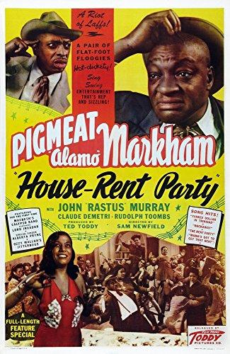 Posterazzi House-Rent Party Us Art Top Right: Dewey 'Pigmeat' Markham 1946. Movie Masterprint Poster Print, (11 x 17)