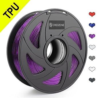 CREOZONE TPU filamento flexible 1.75 1kg spool para la impresora ...