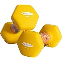 Active Forever Mancuernas hexagonales (par), Mancuernas Antideslizantes Impermeables