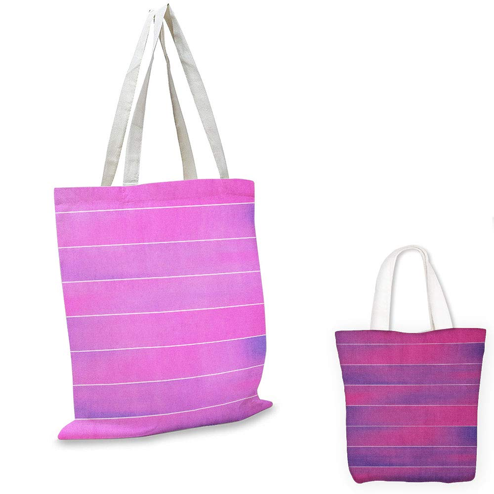 canvas messenger bag Hot Pink Horizontal Color Bands Stripes with Fluorescent Effect and Soft Transitions Print Pink Violet foldable shopping bag