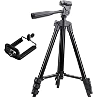 SHYLOC 3120 Mobile and Camera Tripod - Universal Portable & Foldable Professional SLR DSLR Camera Stand for Photography and Videography Tripod -Brown Colour