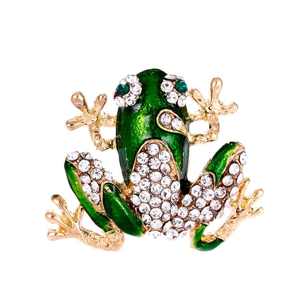 HighPlus Unisex Rhinestone Cartoon Frog Brooches Brooch Pin Jewelry Accessories Gift