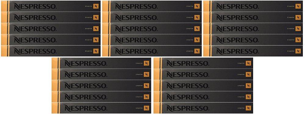 Nespresso WUWik OriginalLine Capsules: Livanto, 50 Count (5 Pack)