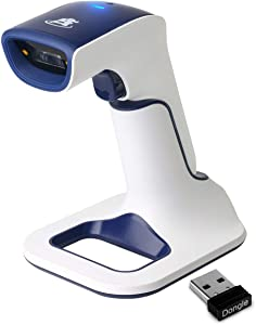 ScanAvenger Wireless Portable 1D With Stand Bluetooth Barcode Scanner: 3-in-1 Hand Scanners -Vibration, Cordless, Rechargeable Scan Gun for Inventory Management - Handheld, USB Bar Code EAN-UPC Reader